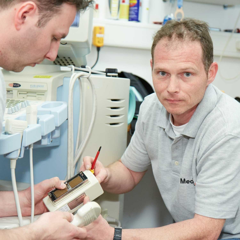Technische Betreuung der medizinischen Geräte für Ärzte
